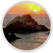 Pacific Express Round Beach Towel