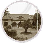 Pacific Grove Carnegie Public Library Circa 1908 Round Beach Towel