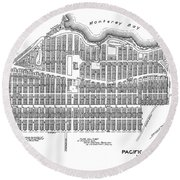 Pacific Grove May 7 1887 Round Beach Towel