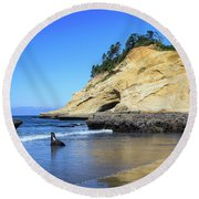 Pacific Morning Round Beach Towel