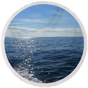 Pacific Ocean Round Beach Towel