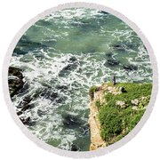 Pacific Overlook Round Beach Towel