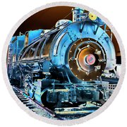 Pacific Southwest Railway And Meseum Round Beach Towel