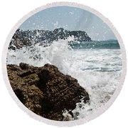 Pacific Splash Round Beach Towel