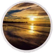 Pacific Sunset Round Beach Towel