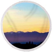 Pacific Twilight Round Beach Towel