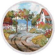 Pacific View Round Beach Towel