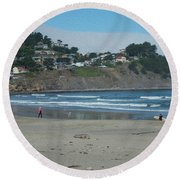 Round Beach Towel featuring the photograph Pacifica California by David Bearden