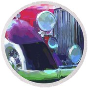 Packard Close Up Pop Round Beach Towel