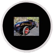 Round Beach Towel featuring the photograph Packard Speedster  by Alan Johnson