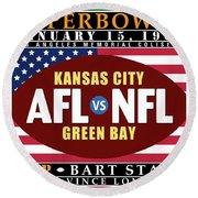 Packers 35 Chiefs 10 Super Bowl 1 Round Beach Towel