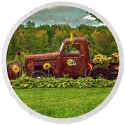 Packers Plow Round Beach Towel by Trey Foerster