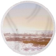 Paddleboarders Round Beach Towel