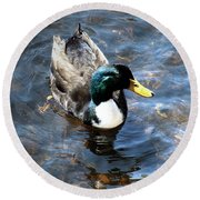 Paddling Peacefully Round Beach Towel by RC DeWinter