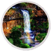 Paddy's Falls Round Beach Towel by Blair Stuart