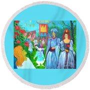 Pageant - Alice In Wonderland Round Beach Towel