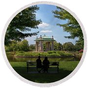 Pagoda Circle Interlude Round Beach Towel