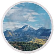 Pagosa Peak Autumn 2014 Round Beach Towel