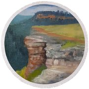 Pagosa Springs View Round Beach Towel