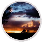 Pagosa Sunset 11-20-2014 Round Beach Towel