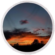 Pagosa Sunset 11-30-2014 Round Beach Towel