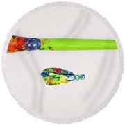 Paint Brush Of The Soul Round Beach Towel