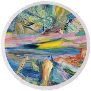 Paint Number 31 Round Beach Towel