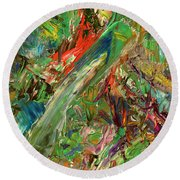Paint Number 32 Round Beach Towel