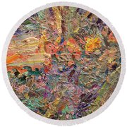 Paint Number 34 Round Beach Towel