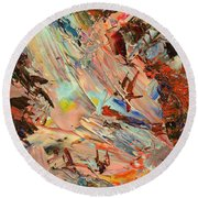 Paint Number 36 Round Beach Towel