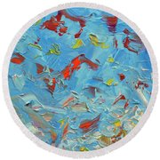 Paint Number 47 Round Beach Towel