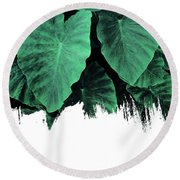Paint On Jungle Round Beach Towel