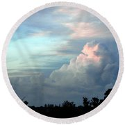 Painted By Nature Round Beach Towel
