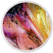 Painted Canyon Round Beach Towel