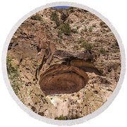 Painted Cave Ancient Art Round Beach Towel