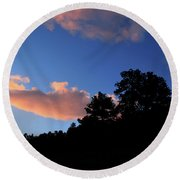 Painted Clouds Round Beach Towel