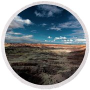 Round Beach Towel featuring the photograph Painted Desert by Charles Ables