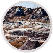 Painted Desert Purple Peak Round Beach Towel