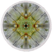 Painted Flowers #6253_4 Round Beach Towel by Barbara Tristan