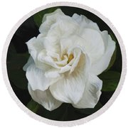 Round Beach Towel featuring the photograph Painted Gardenia by Phyllis Denton
