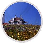 Painted Highland Lighthouse Cape Cod Round Beach Towel