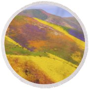 Painted Hills Round Beach Towel by Marc Crumpler