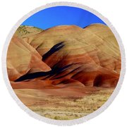 Painted Hills Pano Round Beach Towel