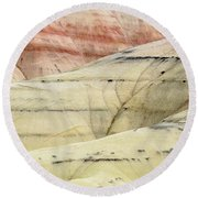 Round Beach Towel featuring the photograph Painted Hills Ridge by Greg Nyquist