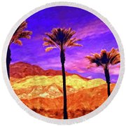 Painted Hills Round Beach Towel