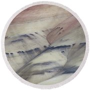 Round Beach Towel featuring the photograph Painted Hills Textures 2 by Leland D Howard