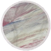 Round Beach Towel featuring the photograph Painted Hills Textures 3 by Leland D Howard