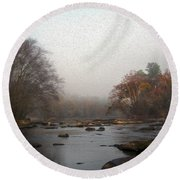 Painted Late Fall On The Saluda Round Beach Towel