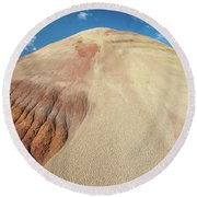 Round Beach Towel featuring the photograph Painted Mound by Greg Nyquist