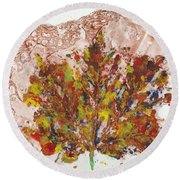 Painted Nature 3 Round Beach Towel